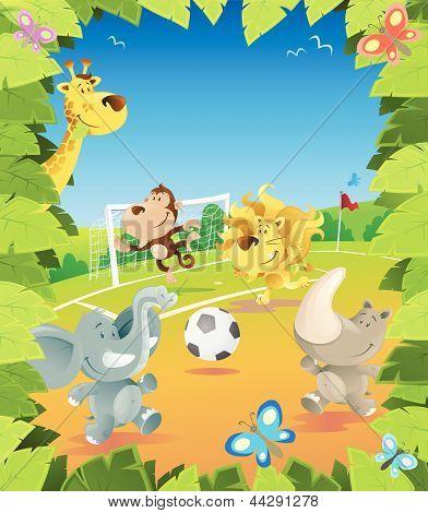 Jungle Football Border