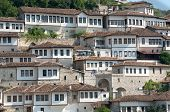 windows in Berat - Albania - also called city of a thousand windows poster