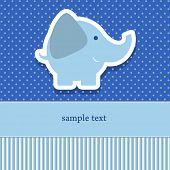 baby shower invitation template vector illustration. Cute giraffe poster
