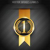 original golden vector badge label poster