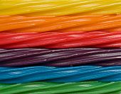 Candy rainbow made of different licorice flavors poster