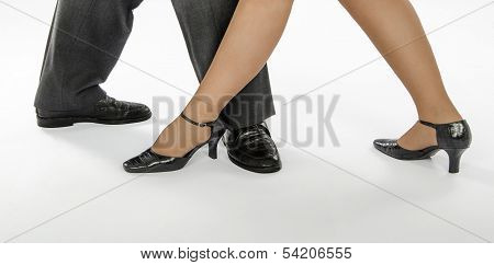 Two Dancers In Crocodile Skin Shoes