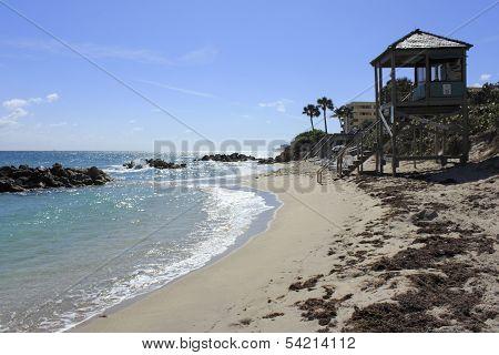 Lifeguard Tower On Coast