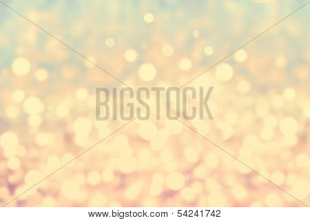 Navidad había desenfocada fondo Vintage Gold Bokeh liviano.  Fondo de Navidad abstracta elegante con