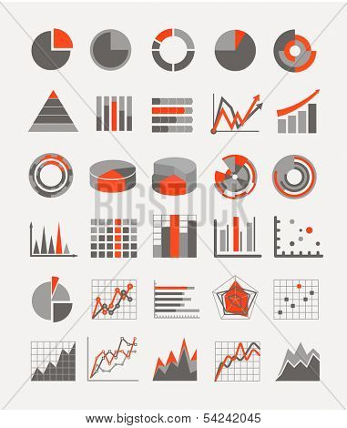 Graphic business ratings and charts. infographic elements poster