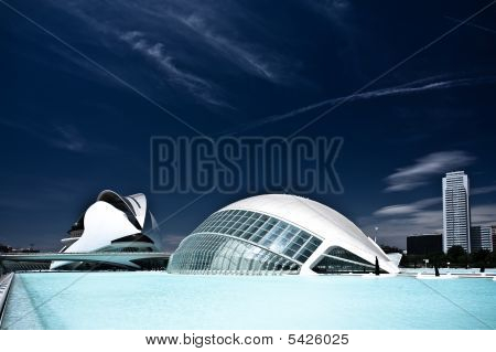 Hemisferic And Palace Of Arts - Buildings Of The City Of Arts And Sciences
