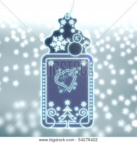 Magic Christmas Label With Heart Sign