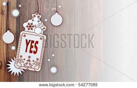 Xmas Coupon With Yes Sign