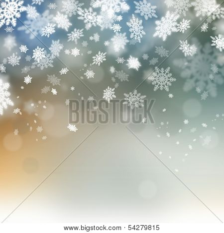Christmas Abstract Beautiful Background. Winter Snoflakes Holidays