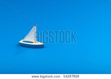 Little Blue Toy Boat