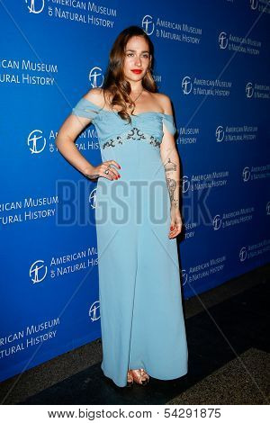 NEW YORK-NOV 21; Actress Jemima Kirke attends the American Museum of Natural History's 2013 Museum Gala at American Museum of Natural History on November 21, 2013 in New York City.