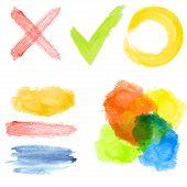 set of color blots - vector illustration poster