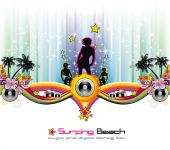 Dance and Music tropical Event Background for Disco Flyers poster