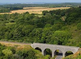 Landscape with railway bridge