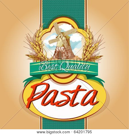 Pasta pack label