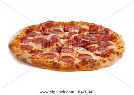 Pepperoni Pizza On White