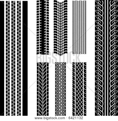 Set of tire patterns