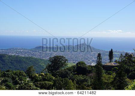 Diamondhead And The City Of Honolulu, Kaimuki, Kahala, And Oceanscape