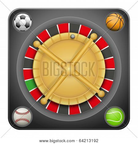 Symbol roulette casino for sports betting with balls.
