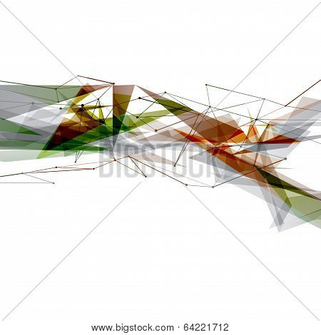 Modern Art Abstract Bright Geometrical Background