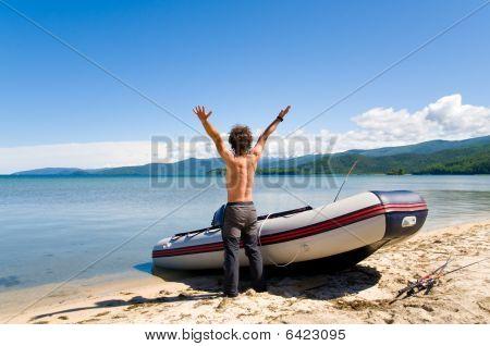 Rejoicing Fisherman