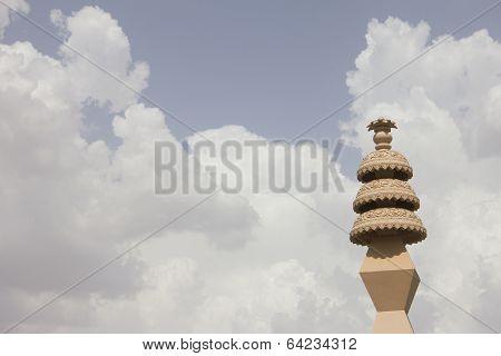Pillar In Narelli Jain Temple, Ajmer, Rajasthan