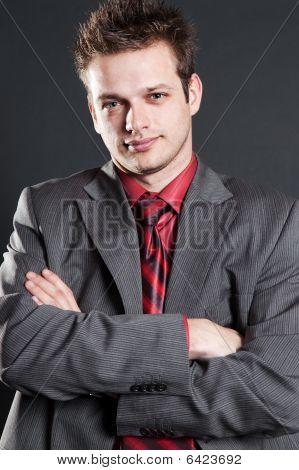 Portrait Of Trustworthy Businessman