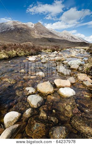 Rocky Stream From Beinn Eighe
