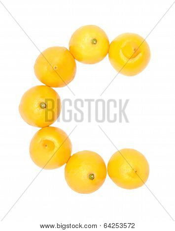 Lemons set on a white background