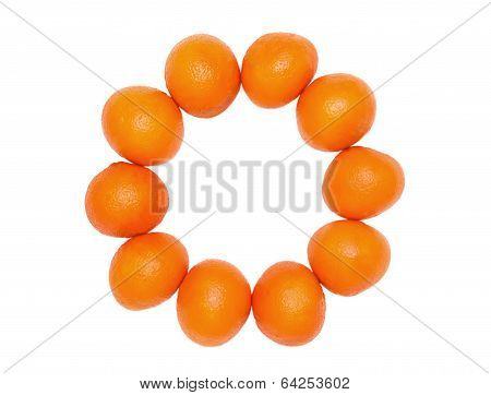 orange set on a white background