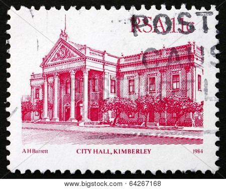 Postage Stamp South Africa 1984 City Hall, Kimberley