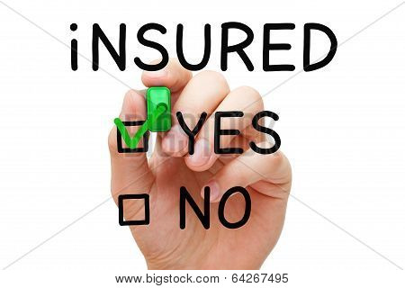 Insured Yes Green Marker