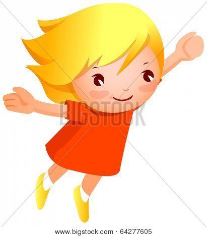cute child jump