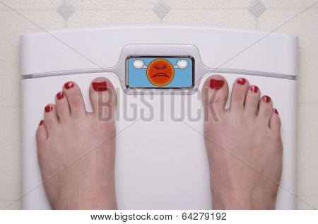 Scale With Feet Mad Face