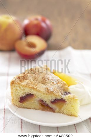 Peach And Plum Almond Cake