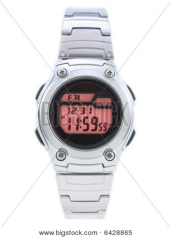Digital Dress Watch With Red Face