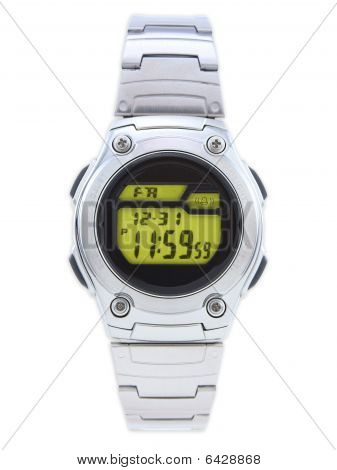 Digital Dress Watch With Yellow Face