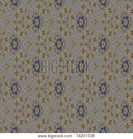 poster of Abstract tileable seamless regular ornamental mosaic pattern