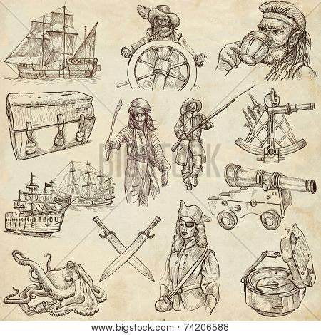 Pirates - Old Paper Set No.3