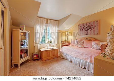 Romantic Bedroom Interior In Soft Tones