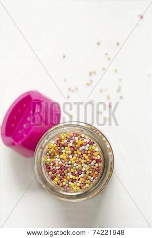 A Lot Of Sprinkles, In Glass Jar