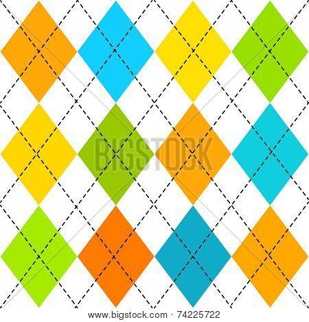 Classic multicolored  argyle pattern