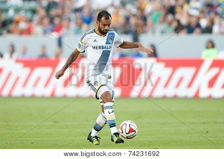 CARSON, CA - OCT 19: Juninho in action during the Los Angeles Galaxy MLS game against the Seattle Sounders on October 19th 2014 at the StubHub Center.