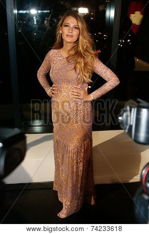 NEW YORK-OCT 16: Actress Blake Lively attends God's Love We Deliver, Golden Heart Awards on October 16, 2014 in New York City.