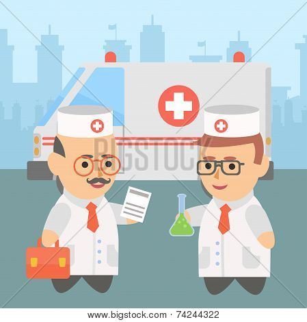 Medicine doctor ambulance