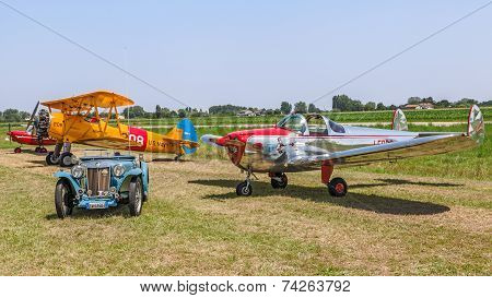 Vintage Car And Airplanes