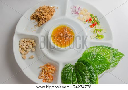 Miang Kham, Traditional Snack From Thailand And Laos