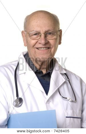 Portrait Of A Senior Doctor