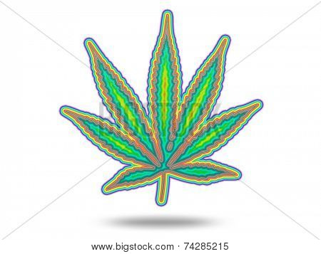 Cannabis Leaf with Spectrum poster