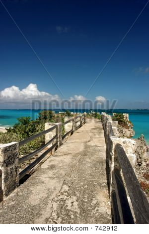 Jetty At Sam Lords Beach, Barbados